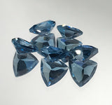 London Blue Topaz 7 MM Trillion Faceted