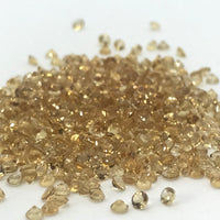 Citrine Small size 2 MM Round Faceted lot of 10 pieces