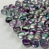 Fluorite 10 MM Round Cabochons Multi Color