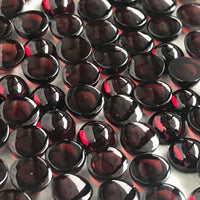 Red Garnet  6 MM Round Cabochons 10 Pcs Lot