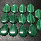 Malachite 20x28 MM Pear shape Cabochons