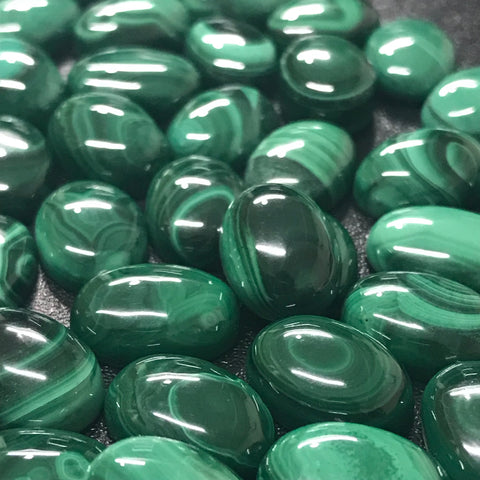 Malachite 10x14 MM Oval Cabochons