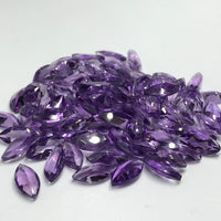 Amethyst 6x12 MM Marquise Cut Faceted lot of 5 pieces