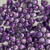 African Amethyst 4 MM Trillion Facted