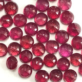 Ruby Glass-Filled 4 MM Round Faceted