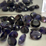 Iolite 6X8 MM Oval shape Faceted Cut