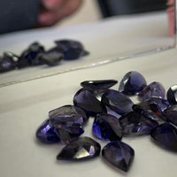 Iolite 6X9 MM Pear shape Faceted Cut