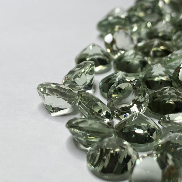 Prasiolite 8 Round Faceted