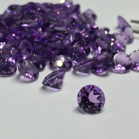 Amethyst 8 MM Round Faceted