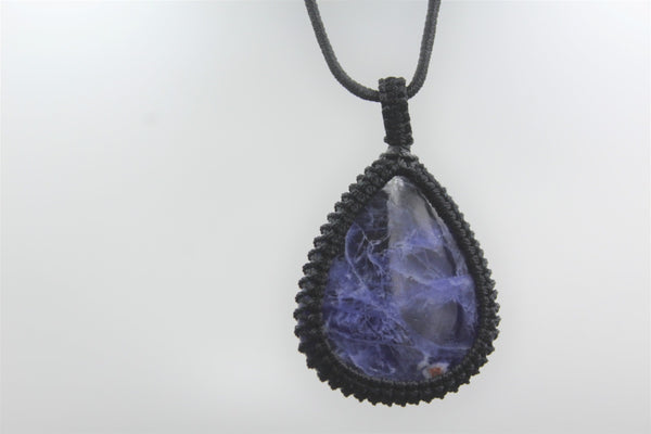 Macrame Pendent with Sodalite stone | Nature Jewelry | Free Size