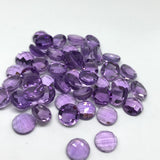 Amethyst 8 MM Round Checkerboard