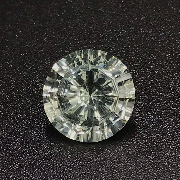 Prasiolite 10 MM Round Wheel of life | Splendor Cut| Special Cut