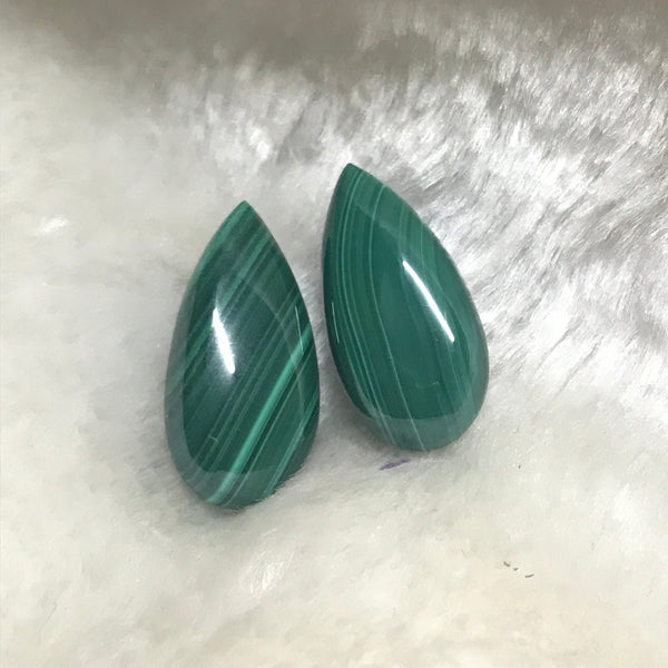 Malachite 12x24 MM Pear shape Cabochons