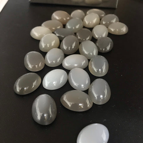 Grey Moonstone 13x18 Oval Cabochons