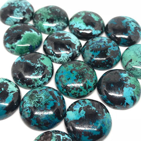 Chrysocolla 18 MM Round Cabochons