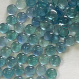 Fluorite 7 MM Round Cabochons