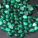 Malachite 7x5 MM Pear Shape Cabochons