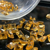 Citrine 5 MM Square Facted