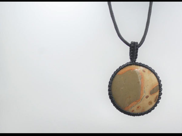 Macrame Pendent with Jasper stone | Natural Gemstone