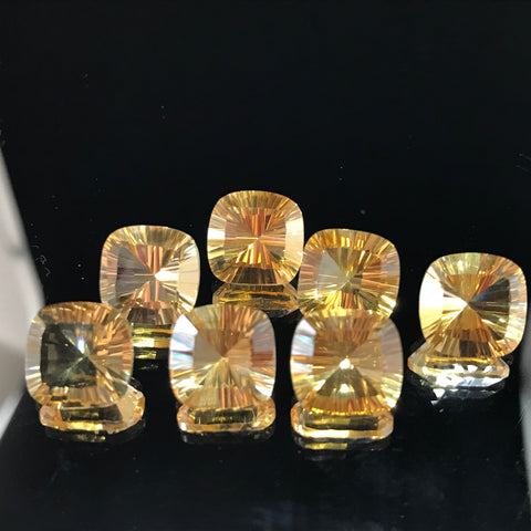 Citrine 10 MM Cushion Concave Special cut