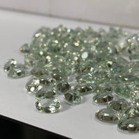 Prasiolite| Green Amethyst 8X10 MM Oval Faceted