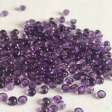 Amethyst Small Size 2.5MM Round Cabochons