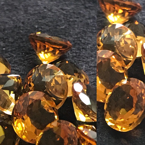 Madiera Citrine 8 MM Round Faceted