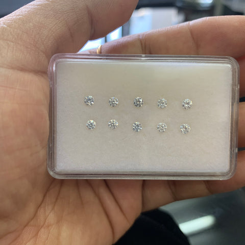 Moissanite 3MM Round Cut