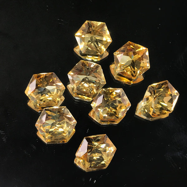 Citrine 10 MM Hexagon Special Cut