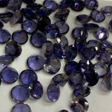 Iolite 5 MM Round Faceted Brilliant Cut