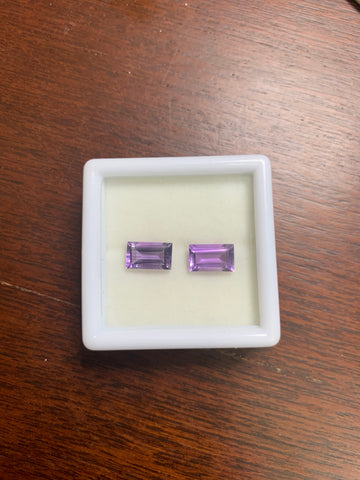 Amethyst 6x10 Rectangle Faceted Cut