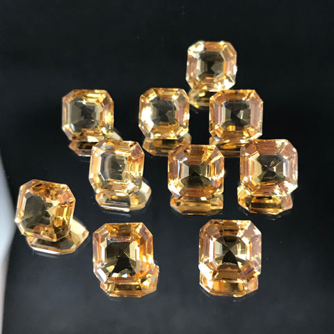 Citrine 10 MM Cushion Acer Cut/ Special cut