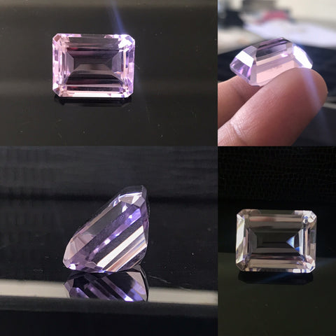 Pink Amethyst 13x18 Octagon Faceted