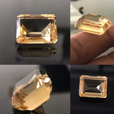 Citrine 13X18 MM Octagon Faceted