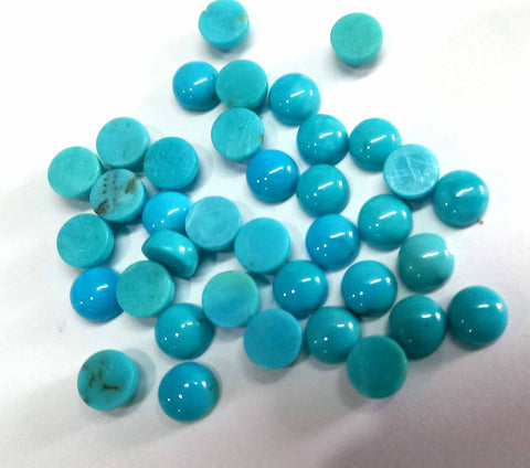 Natural Arizona Turquoise 4 mm Round Cabochon
