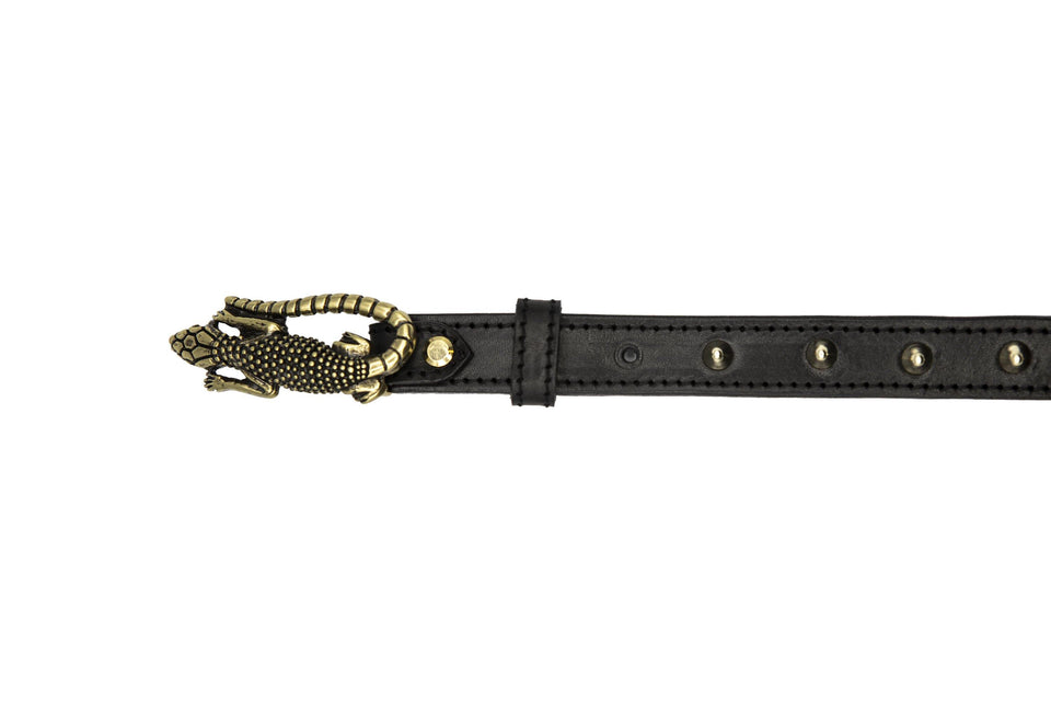 STUDDED LIZARD PETRA BELT