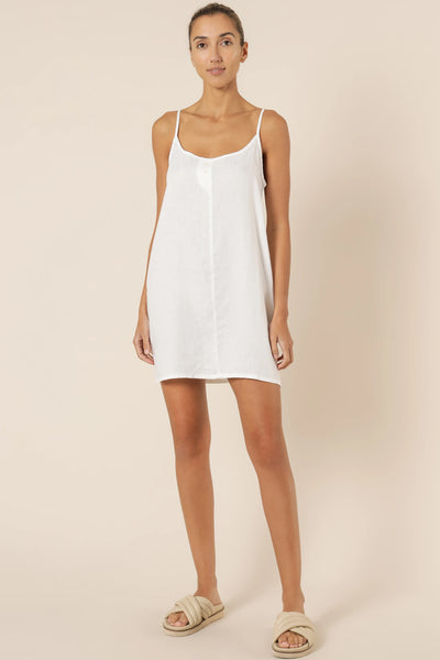 Nude Linen Lounge Dress