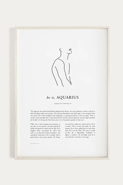 Aquarius Man Print