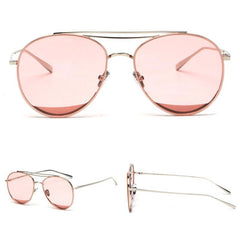 Clear Pink Aviation Sunglasses