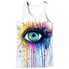 Image of 3D COLORFUL EYE TANK