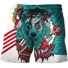 3D COLORFUL BEAR SHORTS