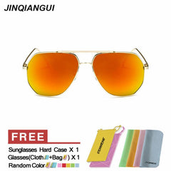Titanium Orange Sunglasses