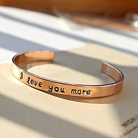 18k Gold Plated - I Love You More Bangle (USD$0.10)  DIME-SALE TODAY - Pinterest_Promo****