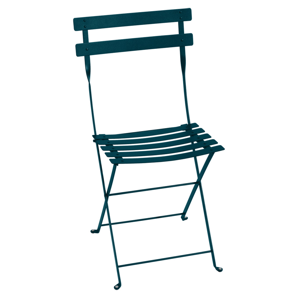 Bistro Folding Metal Chair, Acapulco Blue
