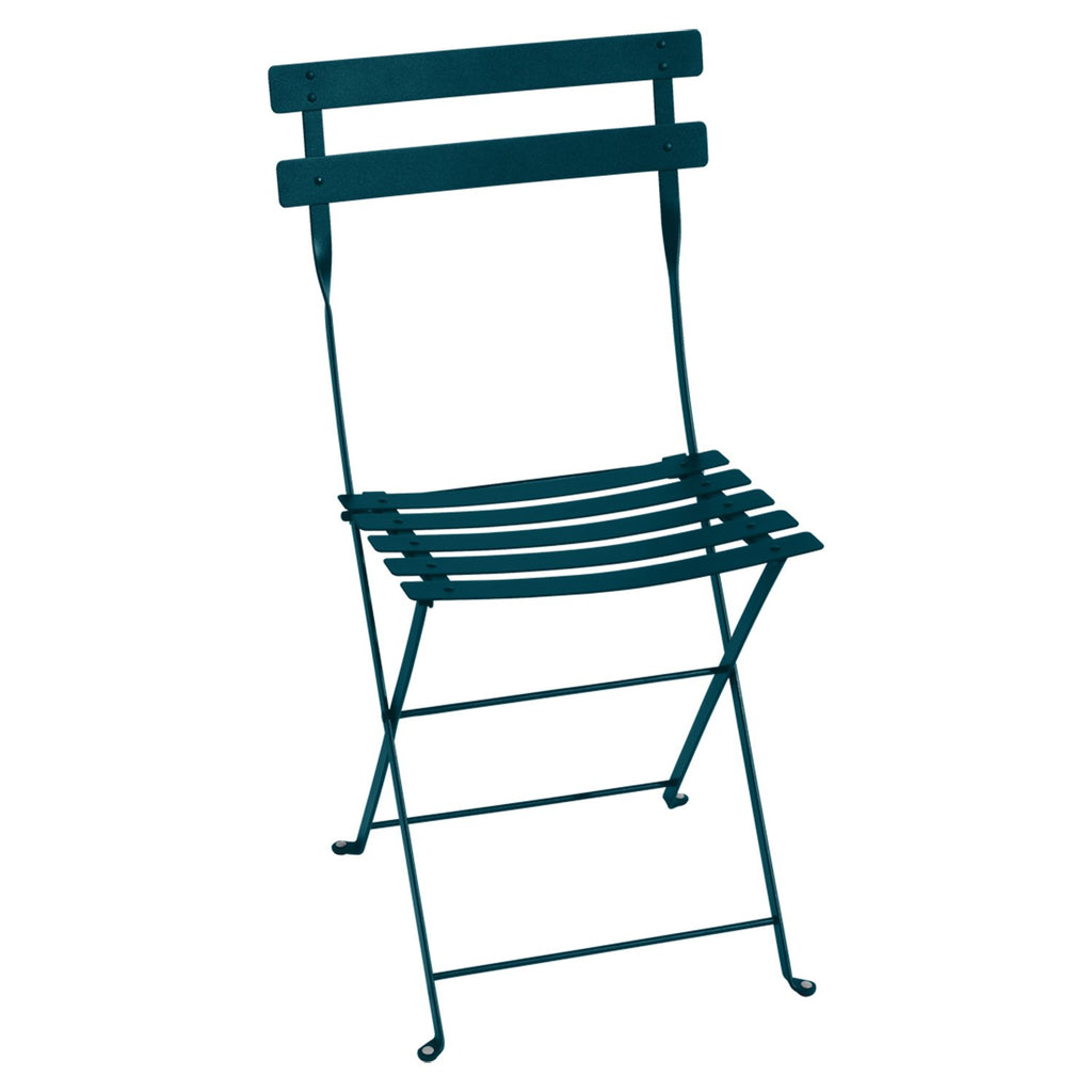 Bistro Folding Metal Chair, Deep Blue