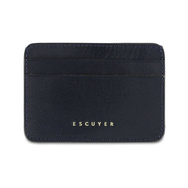 Leather Cardholder - Blue