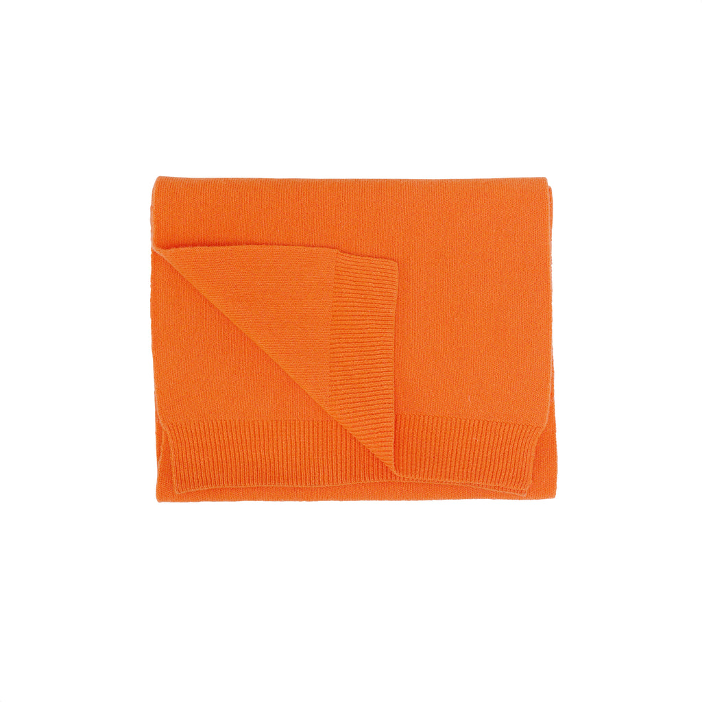Merino Wool Scarf, Burned Orange