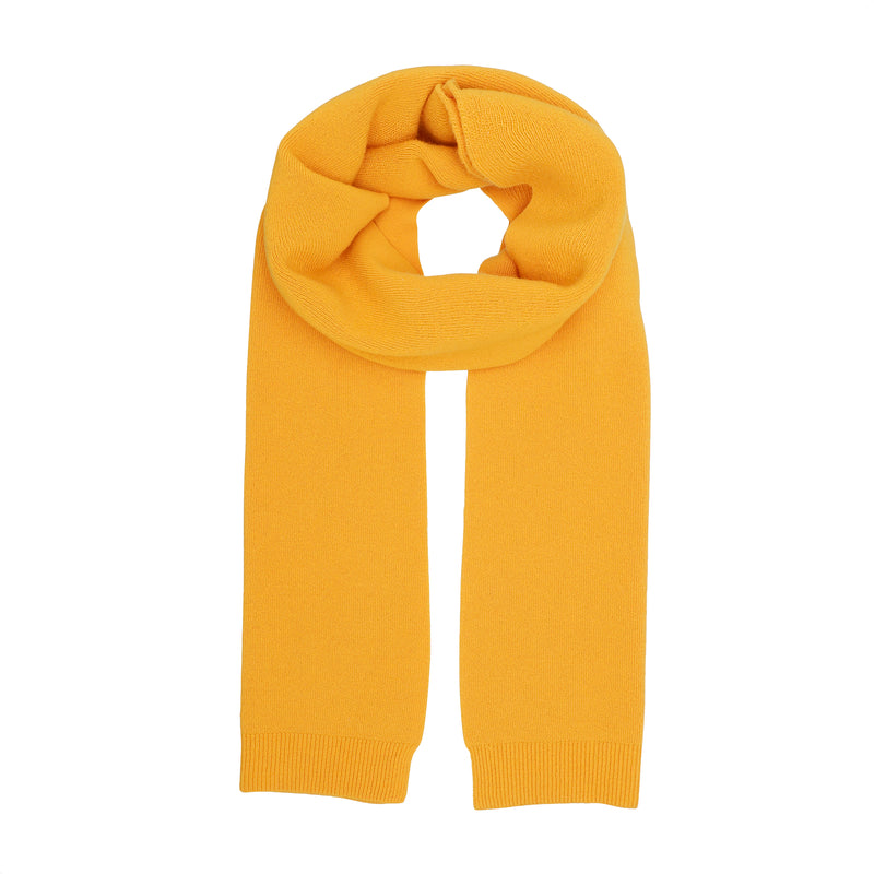 Merino Wool Scarf, Burned Yellow