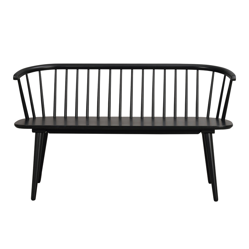 Carla Kitchen Bench, Black
