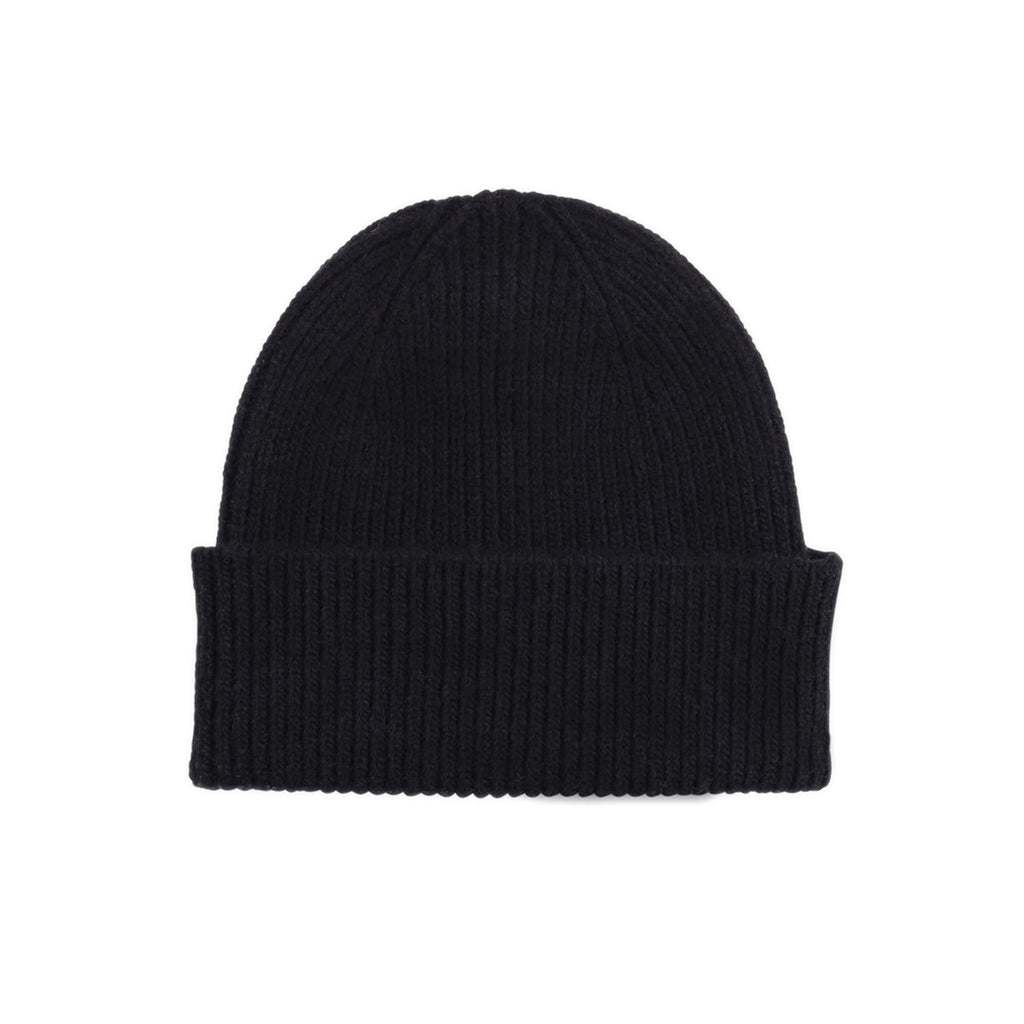 Merino Wool Beanie, Deep Black
